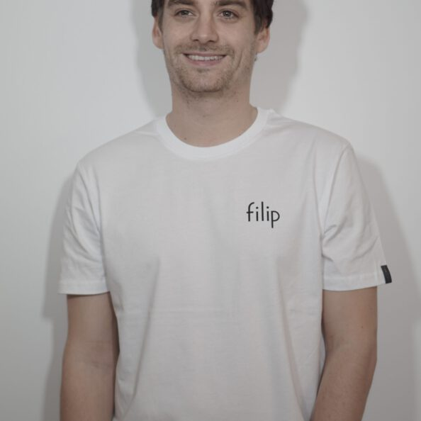 "T-Shirt ""filip"" – white"